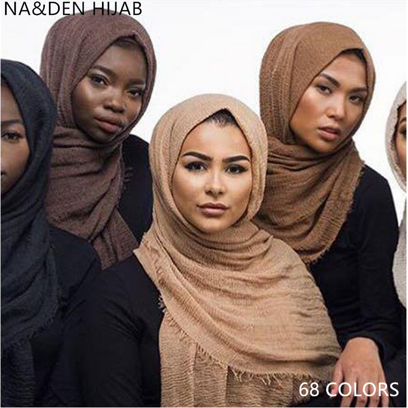 Hot sale bubble plain scarf scarves fringes women soft solid hijabs popular muffler shawls pashmina muslim