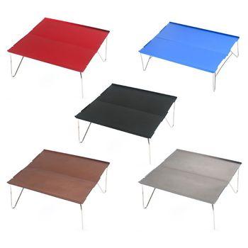 Przenośne stoliki kempingowe z stół aluminiowy Top twardy składany stół w torbie na piknik obóz plaża łódź przydatne f tanie i dobre opinie CN (pochodzenie) Z tworzywa sztucznego Nowoczesna i minimalistyczna Plac Stół ogrodowy meble zewnętrzne desk Nowoczesne