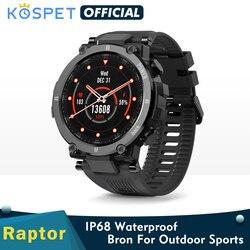 2020 New Nowy KOSPET Raptor zegarek sportowy do użytku na zewnątrz wytrzymały Bluetooth w pełni dotykowy inteligentny zegarek Ip68 wodoszczelny Tracker Smartwatch mody dla mężczyzn