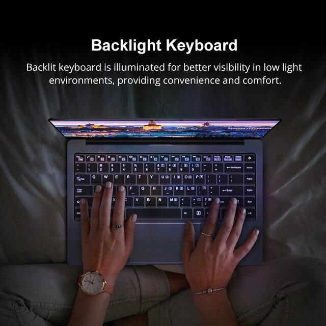 CHUWI LapBook Pro 14.1 Cal 1920*1080 Intel Gemini-Lake N4100 czterordzeniowy 8GB 256GB SSD Windows 10 Laptop z podświetlana klawiatura
