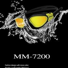 Очки для воды, профессиональные очки для плавания, водонепроницаемые, для взрослых, для плавания, УФ, анти-туман, регулируемые очки Oculos Espelhado,...