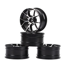 4pcs RC Aluminum Drift Wheels Hub Rims for 1/10 HPI HSP Drift On-road Car Upgrade Parts 6mm 12mm hex car parts offset rc drift tires tyre wheel rims 4pcs set dhg pp0370 fit for hpi hsp 1 10 drift racing car truck