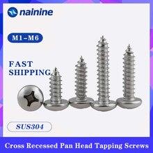 Pa [M1-M6] 304 aço inoxidável pan phillips cabeça parafusos auto-roscantes parafuso pequeno eletrônico ss37