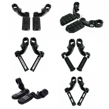 """Motorcycle 32mm 1.25"""" Short Angled Highway Engine Guard Foot Pegs For Harley Touring Honda"""