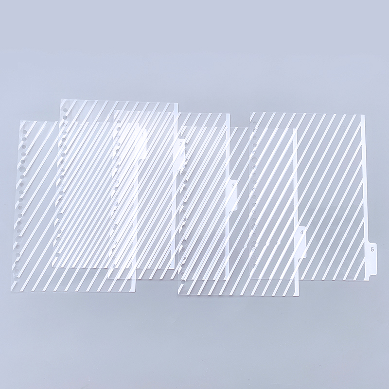 5 Sheets/pack A5/B5/A4 Binder Index Dividers Creative Classification Card 20/26/30 Hole Binder Foil Index Divider Accessories