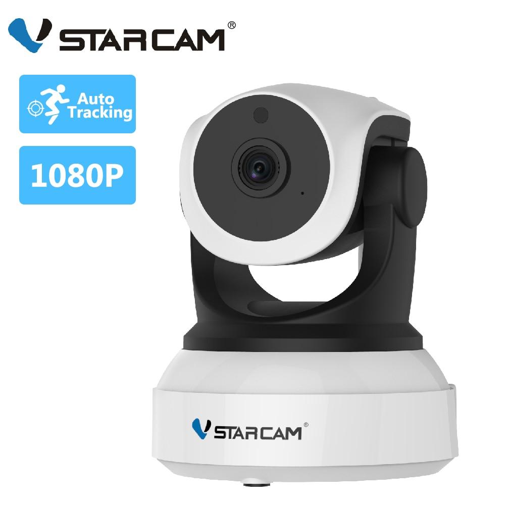 Vstarcam 2MP IP kamera C24S 360 derece insansı tanıma otomatik izleme Wifi  kamera IR CCTV Video güvenlik kamera uzaktan görünümü|Gözetim Kameraları