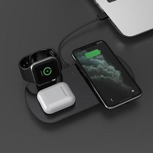 Image 1 - 15 ワット 3 で 1 充電アップル腕時計 5 4 3 airpods 高速チーワイヤレス充電スタンド iphone 11 xs xr × 8 サムスン S10 S9 10 ワット