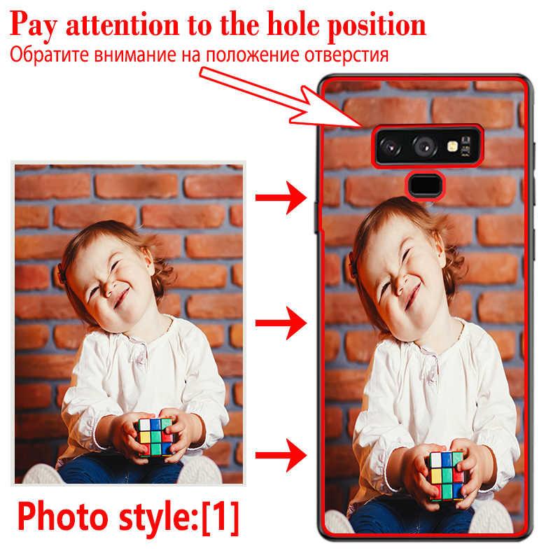 Bricolage Photo étui de téléphone personnalisé Noir Couverture Souple Pour Samsung A70 A80 A9 A10 A50 A50S A30 A40 A10E A20 Plus 2018 Comme cadeau De Noël