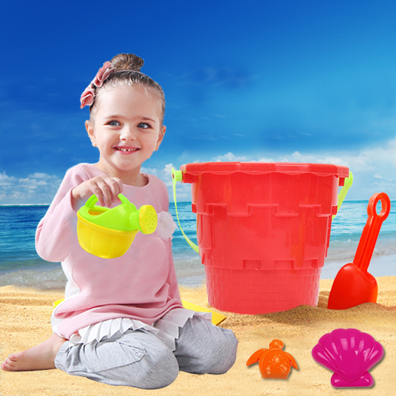 14 Sets Children's Beach Toy Car Suit Baby Play With Sand Dug Tool