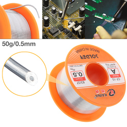 63 /37 50g 0.5mm No-clean Rosin Core Solder Tin Wire Reel with 2% Flux and Low Melting Point for Electric Soldering Iron