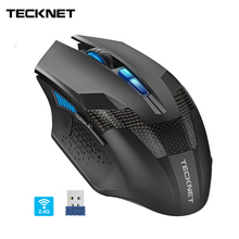 TeckNet Programmable Gaming Wireless Mouse 2.4GHz RAPTOR LED Backlight 4800DPI 8 Buttons USB Nano Receiver Prime Cordless Mice tecknet ergonomic 2 4ghz cordless mouse 4800dpi optical computer wireless mice usb nano receiver 6 adjustment levels 6 buttons