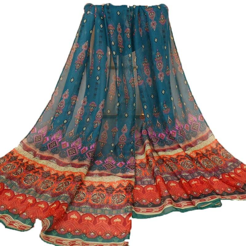 Women Ladies Flower Lace Scarf Long Soft Wrap Shawl Stole Pashmina Scarves EI