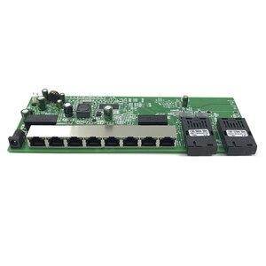 Image 5 - 逆 POE 10/100/1000 1000m ギガビットイーサネットスイッチイーサネット繊維光学シングルモード 8 RJ45 UTP & 2 SC ファイバポートボード SFP3KM