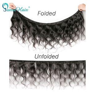 Image 5 - Panse Hair 인간의 머리카락 묶음 한 레이스 정면 바디 웨이브 브라질 머리카락 3 개/몫 두꺼운 전체 번들 비 레미 무료 배송