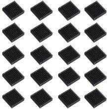 20 шт. 40 мм x 40 мм x 11 мм черный алюминиевый теплоотвод охлаждающий плавник для охлаждения MOSFET VRam регуляторы VRM шаговый драйвер