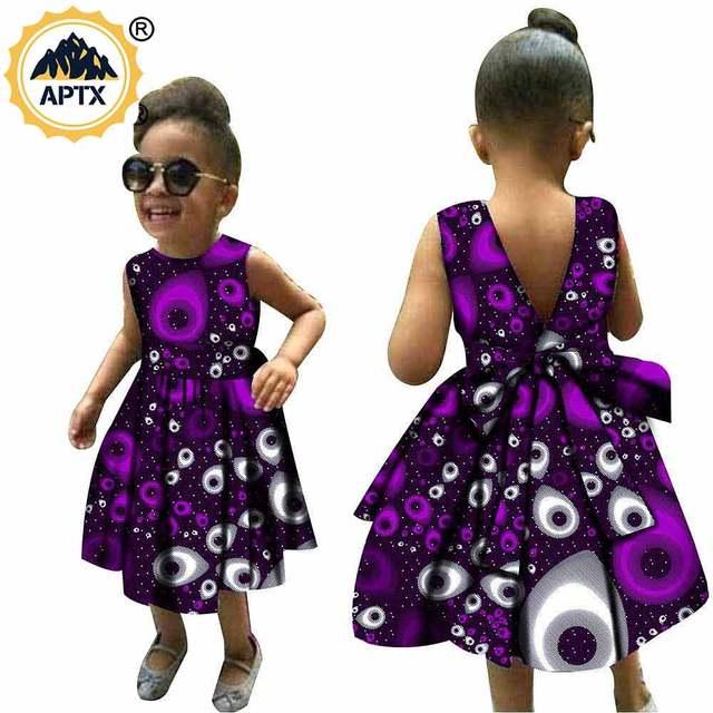 Африканская одежда для детей платье с Африканским принтом Анкары