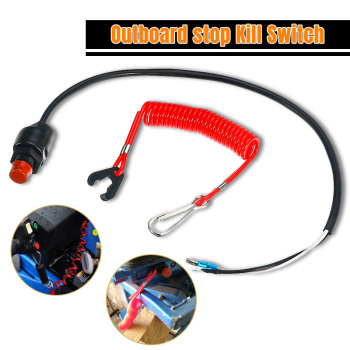 Outboard Cut off Switch Safety Tether Lanyard Boat Motor Emergency Kill Stop Switch For Engine Protect For Yamaha/Tohatsu Motors image