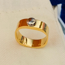 925 Sterling Silver Ring For Women Wedding Ring Men's Ring Couple Ring Luxury Jewelry Square Ring Engagement 18K Gold Rings Gift