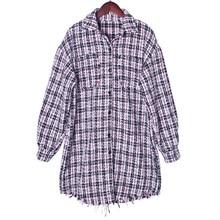 Early Autumn New Small Fragrance Tweed Mid-long Jacket Shirt 2019 Full Plaid Women Shirts