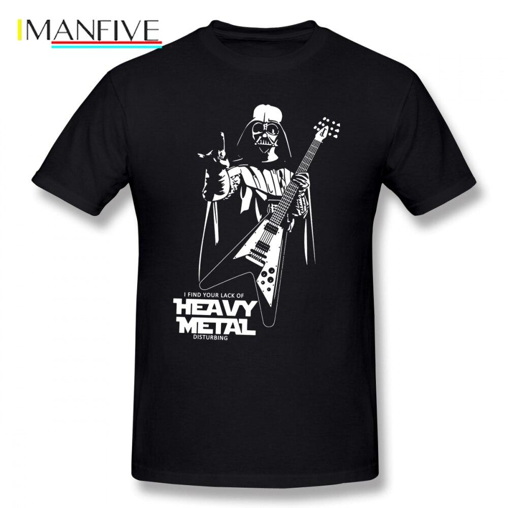 Funny Darth Vader Heavy Metal Star Wars T Shirt Short Sleeve Custom Men T Shirt New Car Styling Big Size Cotton Clothes For Men