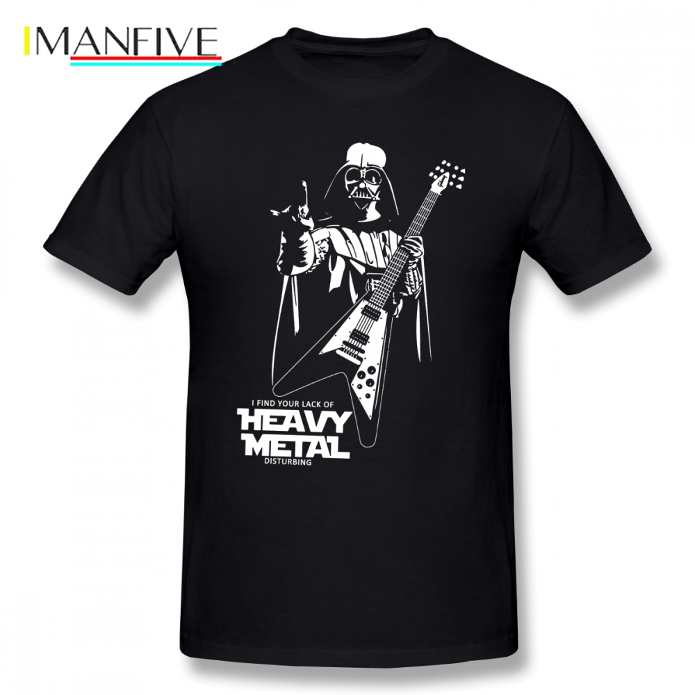 Funny Darth Vader Heavy Metal Star Wars T Shirt Short Sleeve Custom Men T Shirt New Car Styling Big Size Cotton Clothes For Men in T Shirts from Men 39 s Clothing