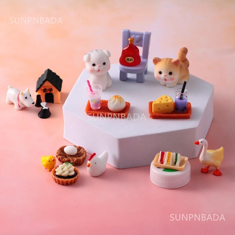 Cute Miniature Dollhouse Supermarket Food Snacks Mini Cake Wine Drink for Blyth Barbies BJD Doll Kitchen Accessories 5