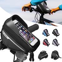 사이클링 자전거 헤드 튜브 핸들 바 휴대 전화 가방 케이스 홀더 케이스 파니 방수 터치 스크린 폴리 에스터 자전거 가방|자전거 가방 & 짐바구니|스포츠 & 엔터테인먼트 -