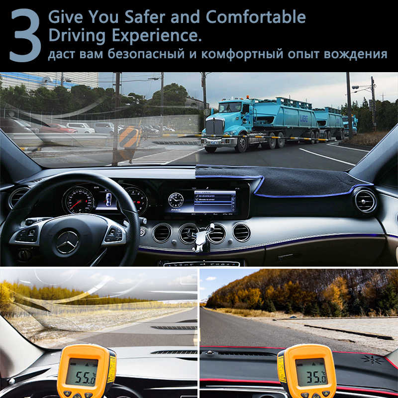 Per Audi Q7 4M 2016 2017 2018 2019 Dashboard Copertura di Protezione Pad Tappeto Cruscotto Anti-Uv Flanella Zerbino Auto accessori S-line