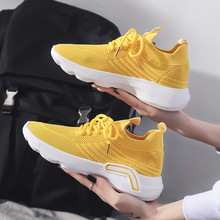 2020 Spring/Summer Women Sneakers Fashion Breathable Sock Women Running Shoes Lace Up Shoes girl casual Footwear 3ha4