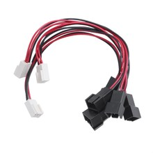 PC Splitter Kabel Ekstensi untuk Double Pria Fan 3 Pin Female 20 Cm(China)