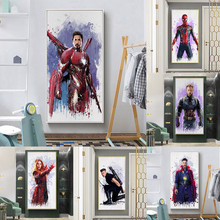 Watercolor Superhero Movie Avengers: Endgame Poster Pictures For Childrens Room Decoration Oil Canvas Painting