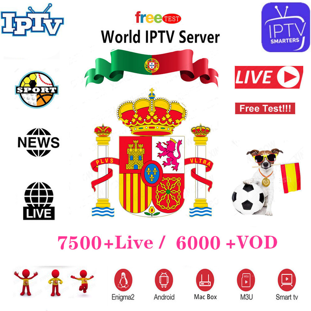 Stable IPTV Spain Subscription 4K IPTV M3U France Adult Channels IPTV Portugal 1 Year Abonnement For Smart TV Android TV Box