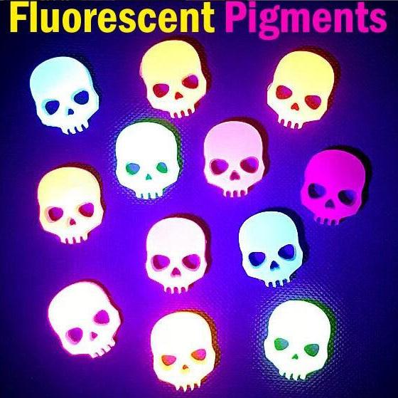 Fluorescent Pigment Neon Pigments Luminous Paint Resin Dye UV Resin Coloring Epoxy Resin Pigment Glow Under Black Light 20 Color