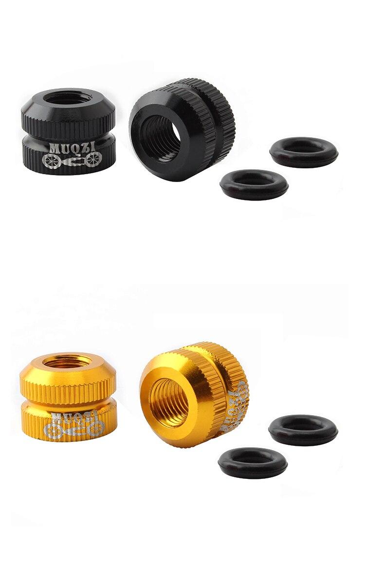 Tubeless Tire Valve Nut Aluminum Alloy Greater Locking Force For Presta Valve