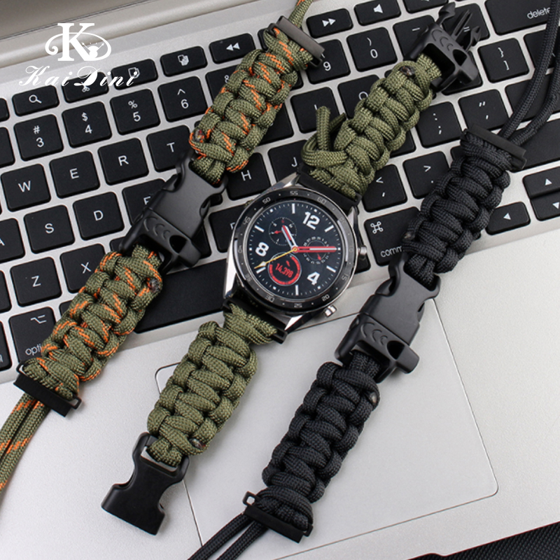 Suitable For Huawei GT / GT2 Watch Belt Currency Sports Outdoor Nylon Umbrella Rope Weaving Personality Accessories General 22mm