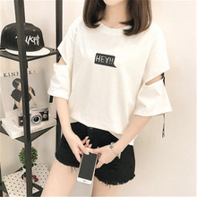 Harajuku Summer Half Sleeve T-Shirts BF Style O-Neck Print Woman T-shirt Female Tee Tops Casual Lady Slim T-shirts Free shipping