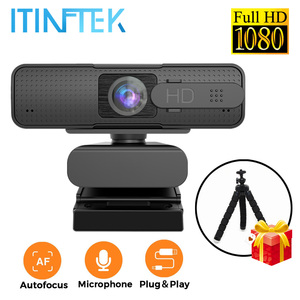 Full HD 1080P Wide Angle USB Webcam with Microphone Mic Anti Peeping Auto Focus Web Camera for PC Computer Laptop Live Streaming