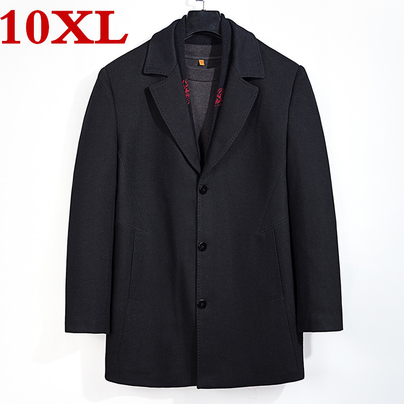 Big Plus Size 8XL 7XL High Quality Winter Jacket Men Thickening Wool Coat Fit Jackets Outerwear Warm Man Casual  Woolen Coat