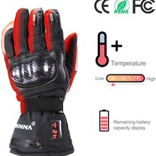 Winter Thermal Electric Heating Gloves Waterproof Heated Gloves Battery Powered Hand