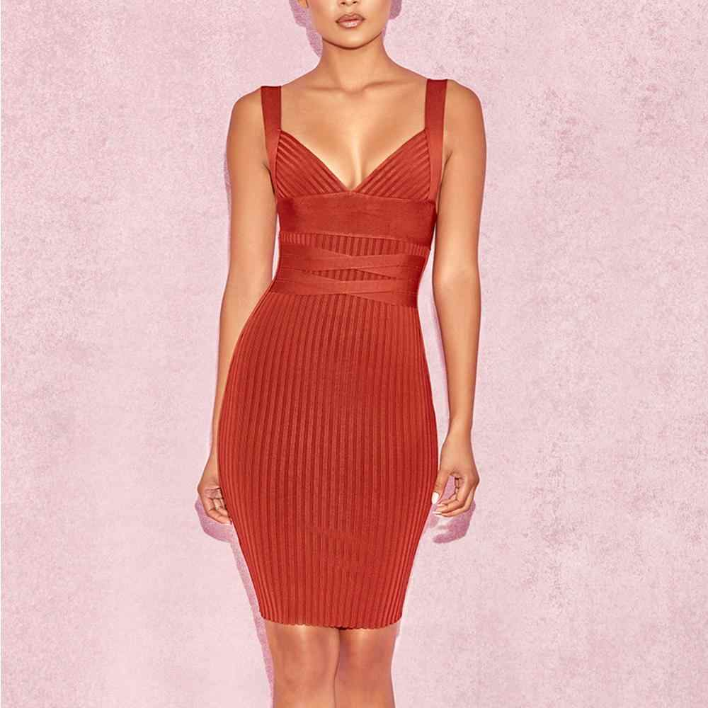 Ocstradeฤดูร้อนเซ็กซี่ชุด 2020 ใหม่แฟชั่นผู้หญิงไวน์แดงBodycon Evening Party Dress