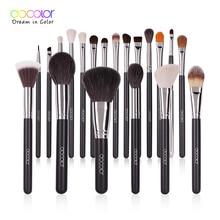 Docolor makyaj fırçalar set profesyonel doğal saç vakfı pudra göz farı makyaj fırçası allık 10 adet 29 adet