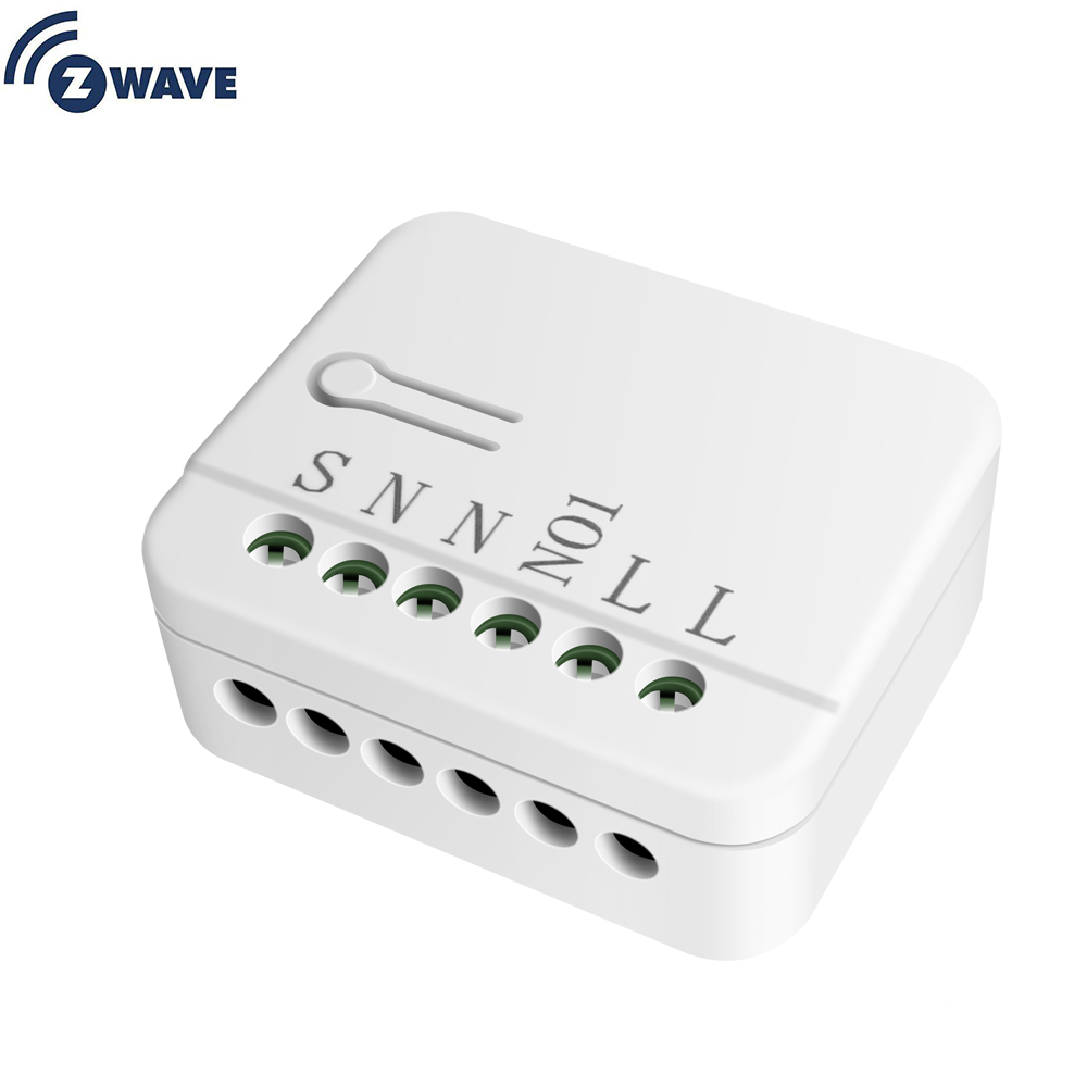 Haozee Smart Home Automation Z Wave Plus Single Relay Large Power Insert Switch Module Lighting Control