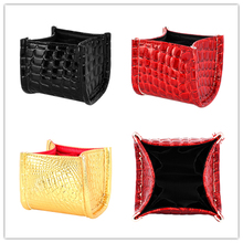 цены Makeup Brush Storage Fashion Crocodile Pattern Faux Leather Makeup Brush Storage Box Frame Cosmetic Case Empty Storage Box Bag