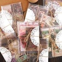 29 Pcs Retro Vintage Buchstaben Pflanzen Washi Papier Aufkleber Geschenk Karton Pack Handwerk Notebook Hintergrund Decals Für Tagebuch Planer