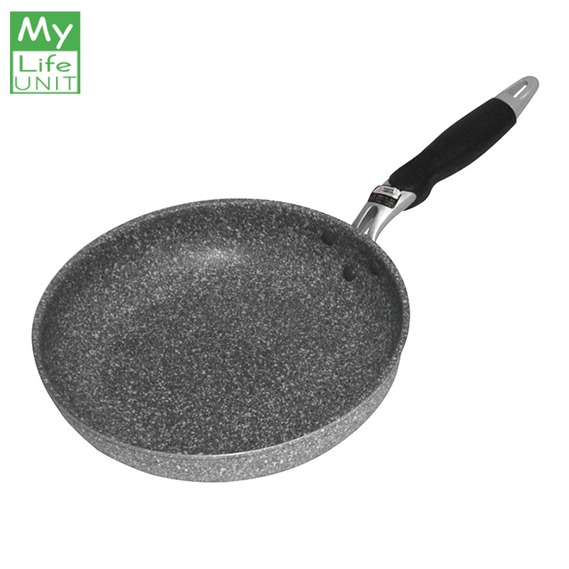 MyLifeUNIT Japanese Style Maifan Stone Non-stick Frying Pan 20 Cm Medical Stone Frying Pan For Gas Stoves And Induction Cookers
