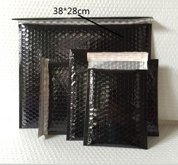 <font><b>Large</b></font> Black <font><b>Bubble</b></font> <font><b>Mailers</b></font> Padded Envelopes Packaging Shipping Bags Inner Size:36*28cm Aluminizer <font><b>Bubble</b></font> Mailing Envelope image