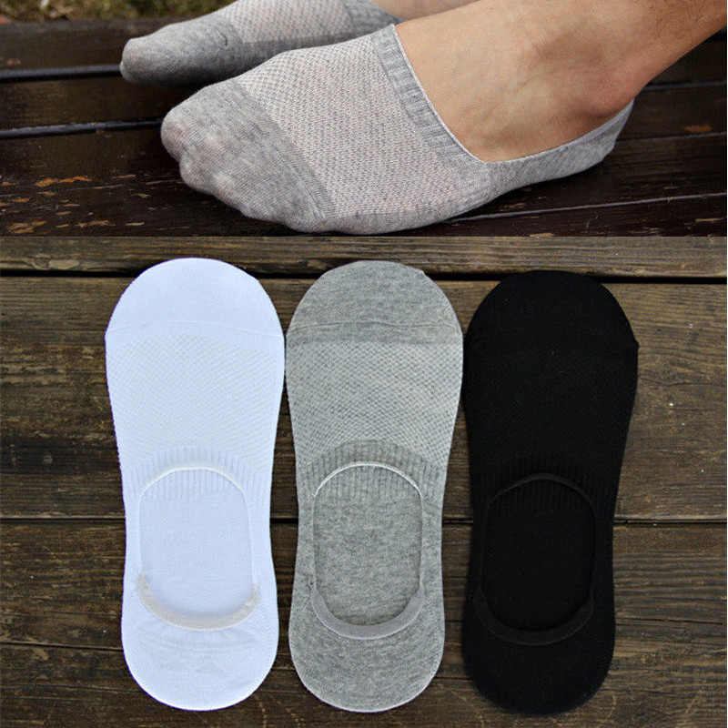 USUS-B8 Cotton Jacquard Socks For Men Unisex Boat Non Slip Invisible Low Cut Cotton Socks