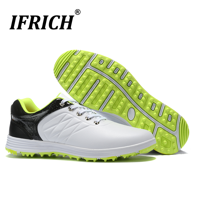 New Men Golf Shoes Waterproof Sport Training Sneakers Comfortable Outdoor Grass Golf Shoes Lightweight Athletic Trainers Men