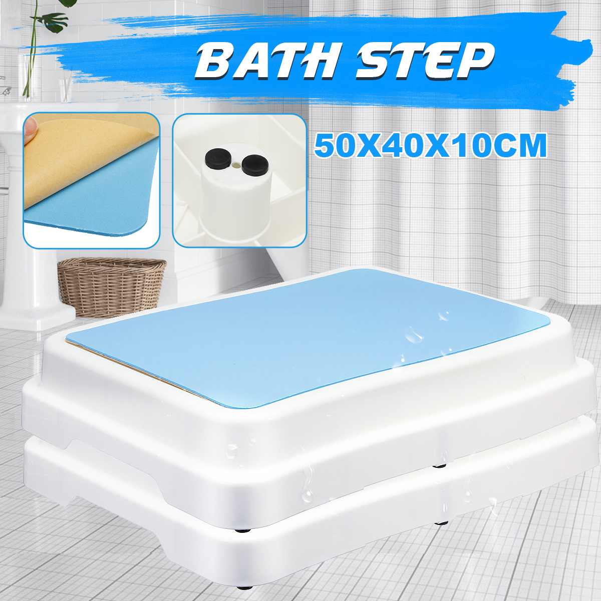 Stackable Bench Stool EVA Bathroom Feeding Hand Washing Bath Stepping Footstool Old Man Baby Non-slip Foot Stool Large Platform