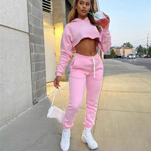 hirigin 2020 Autumn Winter Tracksuit Sweatshirts Tops and Pants Two Piece Suit Women Trousers Casual Sportwear Matching Set